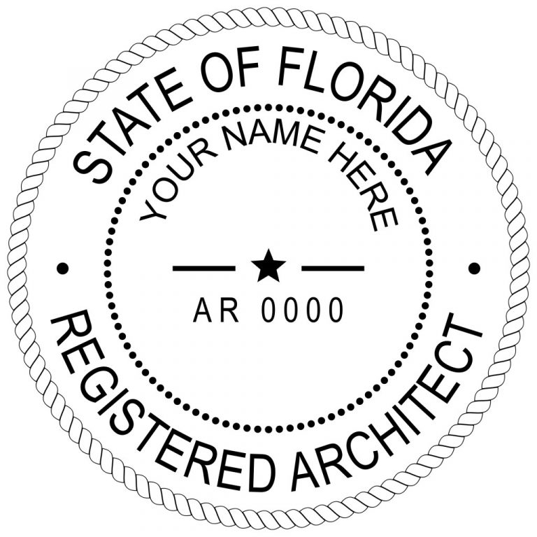 State of Florida Architect Seal