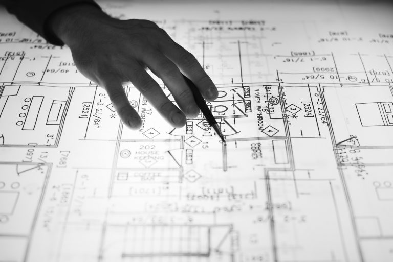 Architect Plans at Light Table