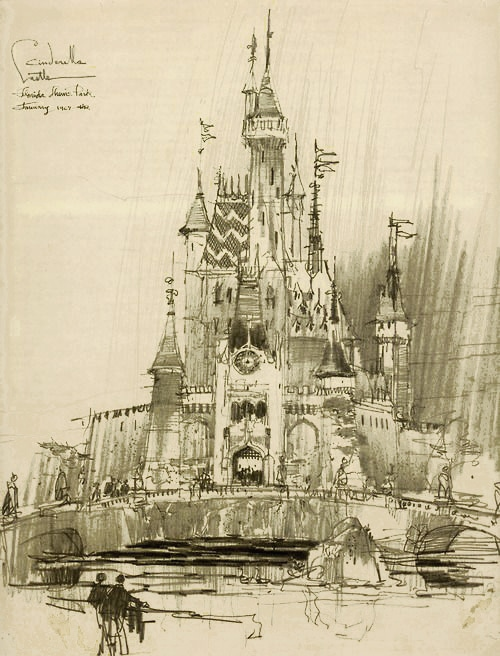Cinderella Castle Concept Sketch