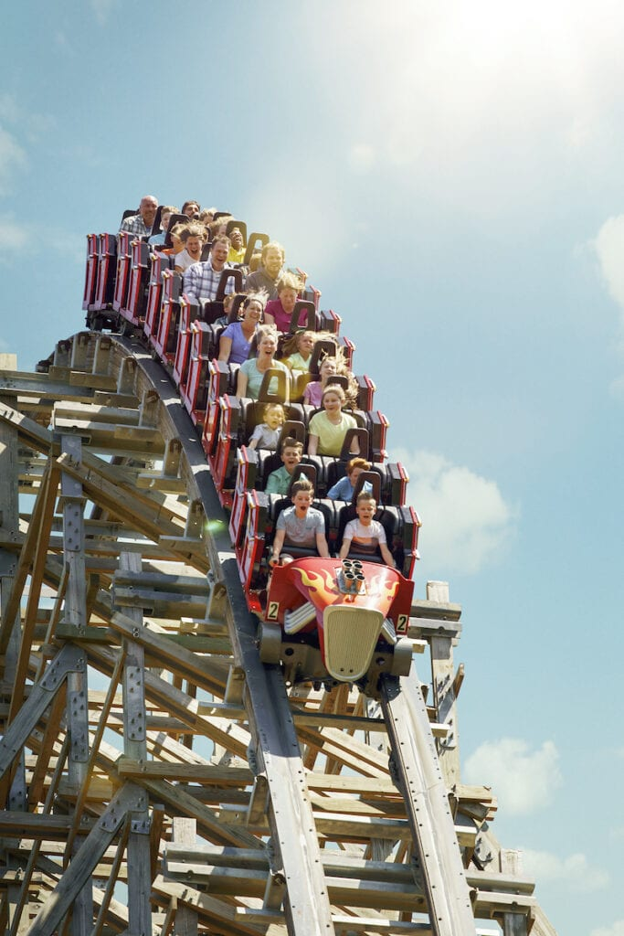 Dollywood Lightning Rod Roller Coaster Hill