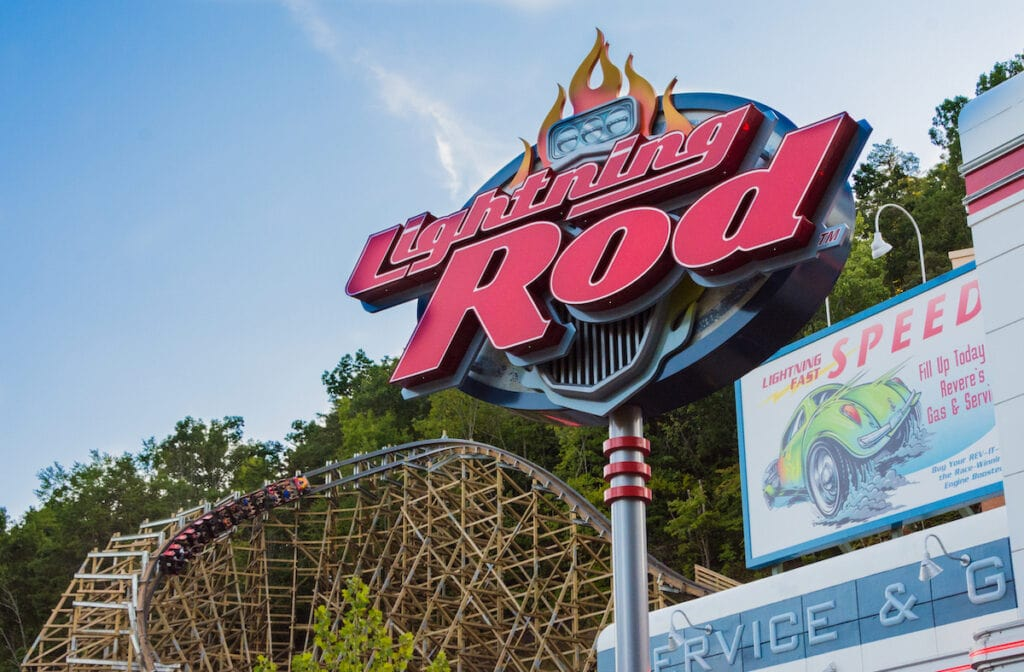 Dollywood Lightning Rod Roller Coaster Entry