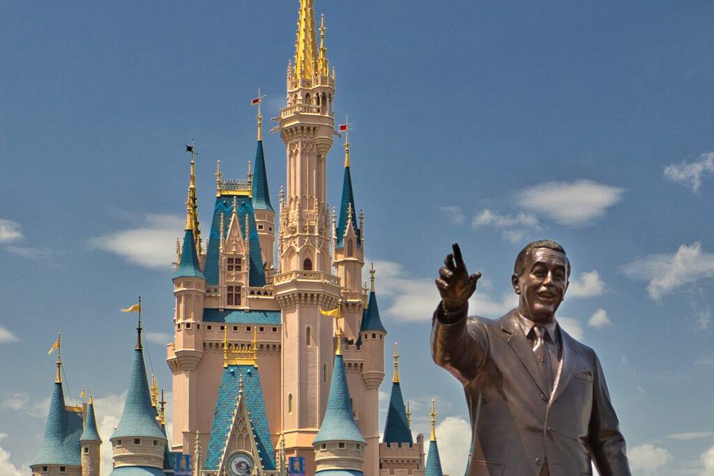 Cinderella Castle with Walt Disney