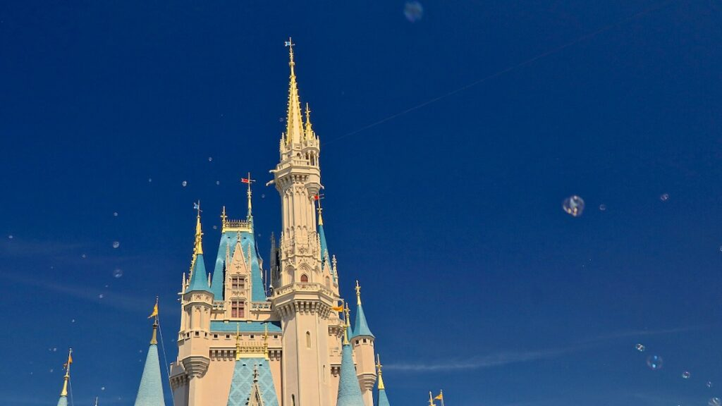 Cinderella Castle with bubbles