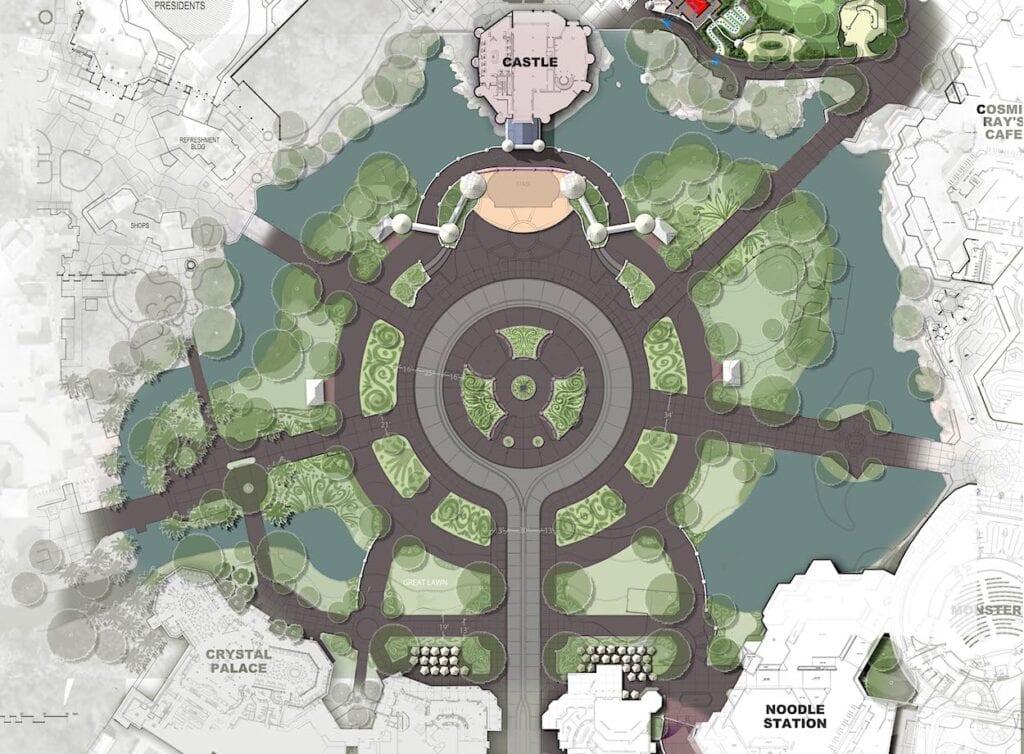 Magic Kingdom Hub Concept Site Plan